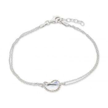 Pulsera plata y cristales Swarovski® - LSW3178BR-B