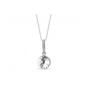 Colgante plata y cristales Swarovski® - LSW0112CL-B
