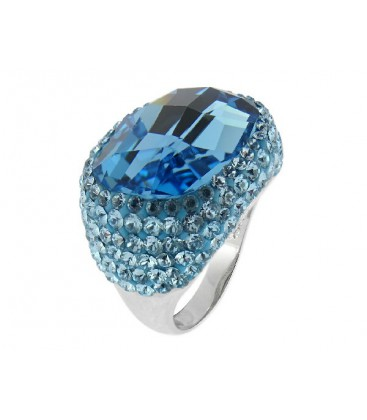 Anillo plata y cristales Swarovski® - LSW1118AN-AQ