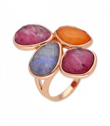 Anillo piedras naturales - BR12904RBCAAV