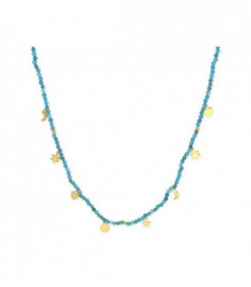Collar plata y piedras naturales - MED014CL-D