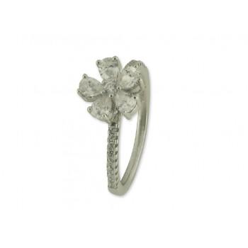 Anillo plata y circonitas - LA3223AN