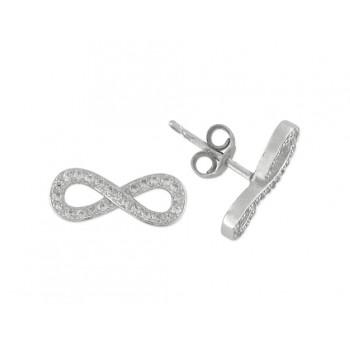 Pendientes plata y circonitas - LAD4100A