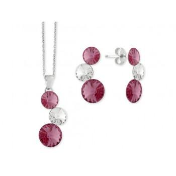 Conjunto plata y cristales Swarovski® - LSW2227C-R