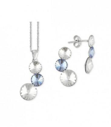Conjunto plata y cristales Swarovski® - LSW2227C-BA