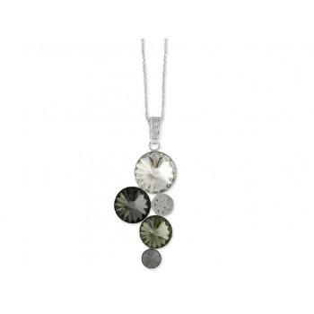Collar plata y cristales Swarovski® - LSW076CL-N