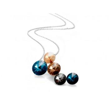 Collar plata y cristales Swarovski® - LSW013CL-M