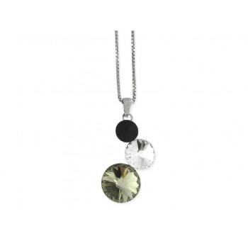 Collar plata y cristales Swarovski® - LSW2249CL-BW