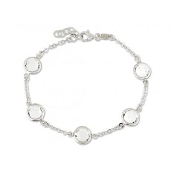 Pulsera plata y cristales Swarovski® - LSW2087BR