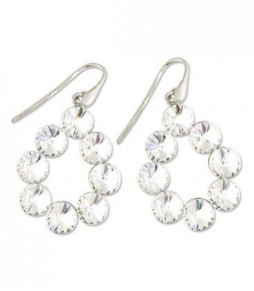 Pendientes plata y swarovski crystals - LSW2041A