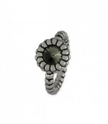 Anillo plata y swarovski crystals - LSW2219AN-G