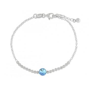Pulsera plata y cristales Swarovski® - LSW3126BR-A