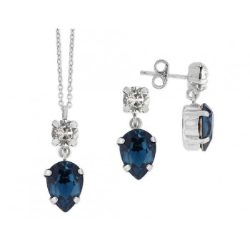 Conjunto plata y cristales Swarovski® - LSW4043C-DB