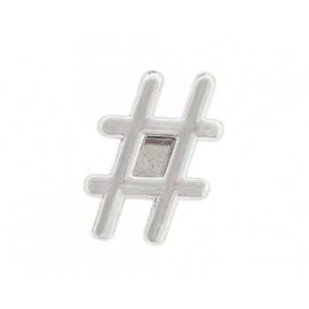 Charm alloy hastag - LM11
