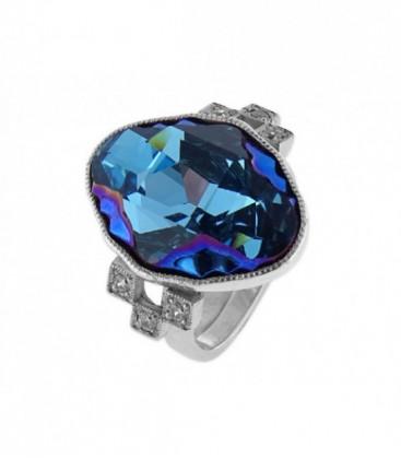 Anillo plata y cristales Swarovski® - LSW095AN-A