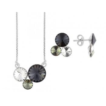Conjunto plata y cristales Swarovski® - LSW3506C-G