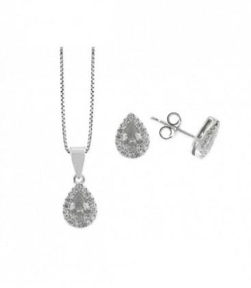 Conjunto plata y circonitas - LAD4243C