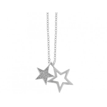 Colgante estrella plata y circonitas - LAD4271CL