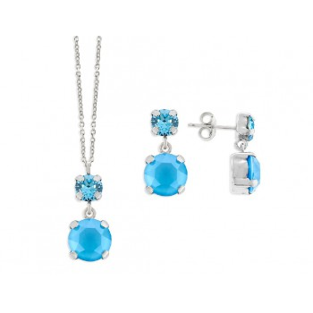 Conjunto plata y cristales Swarovski® - LSW4060C-A
