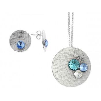Conjunto plata y cristales Swarovski® - LSW3502C-T