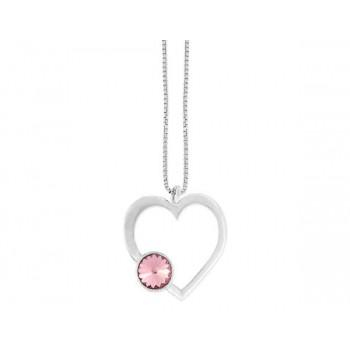Collar plata y cristales Swarovski® - LSW3133CL-R