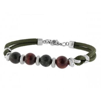 Pulsera acero y piedras naturales - 86BR055-V
